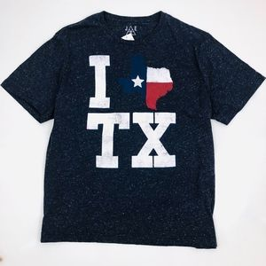 [Jem Collective] Men's Blue I Heart TX Graphic Tee